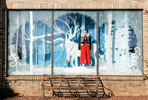 anthropologie american store holiday windows