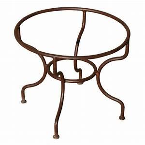 Pied En Fer Forgé : pied de table basse rond en fer forg simple ~ Teatrodelosmanantiales.com Idées de Décoration