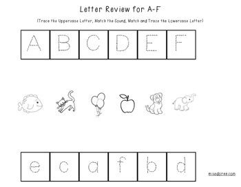 letter review worksheets   doree teachers pay teachers