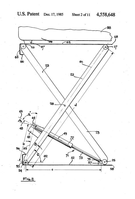 Patent US4558648 - Energy-recycling scissors lift - Google