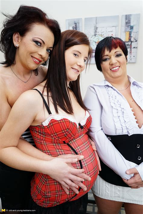 Two Lesbian Housewives Share A Very Naughty Pregnant Teen