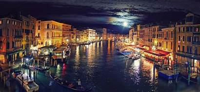 Venice Italy Night Canal Grand Wallpapers Wallpaperup