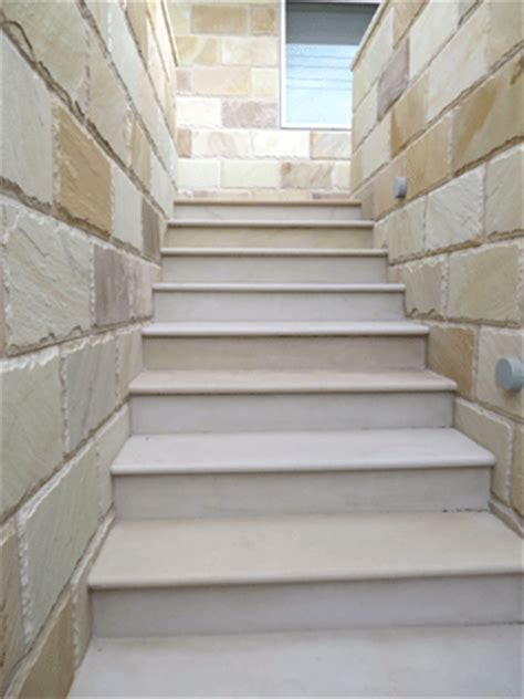 willow sandstone step treads honed from bellstone slate