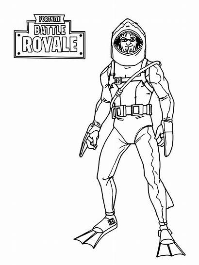 Fortnite Royale Battle Skin Coloring Aquatic