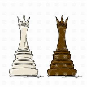Chess piece - queen drawing, 18310, Sport and Leisure ...