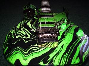 Beautful Green Art Ibanez RG Series Electric Guitar Photo ...