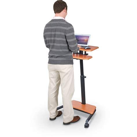 mobile sit stand desk balt 90459 up rite workstation mobile adjustable sit and