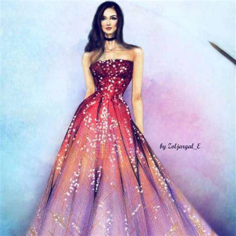 stunning haute couture illustrations  zoljargal enkhbold
