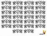 Valentine Printable Alphabets Coloring Pages Chart Alphabet Hearts Print Letters Yescoloring Valentines Template Lovin Boys sketch template