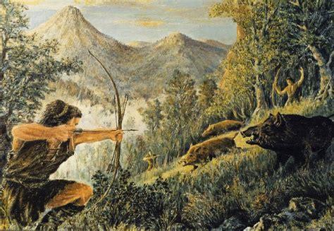 hunting scene wallpaper wallpapersafari