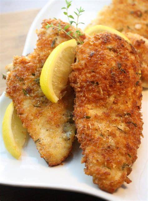 panko  breadcrumbs lemon parmesan chicken cooking