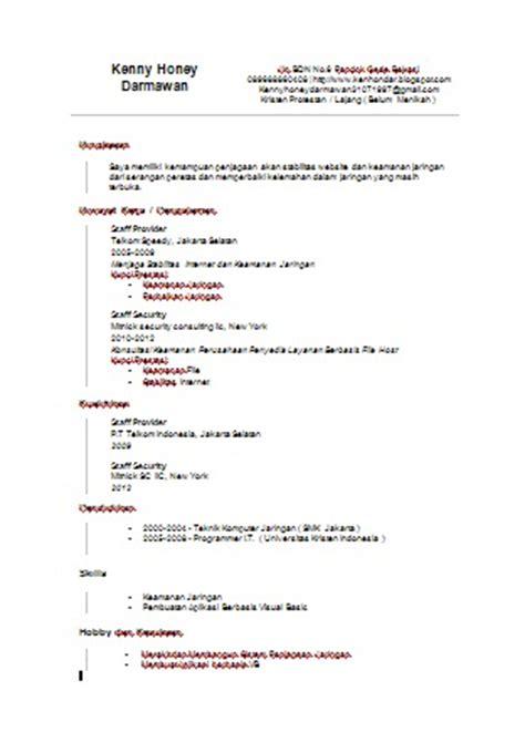 Apa Curriculum Vitae Format by Curriculum Vitae Apa Itu Curriculum Vitae