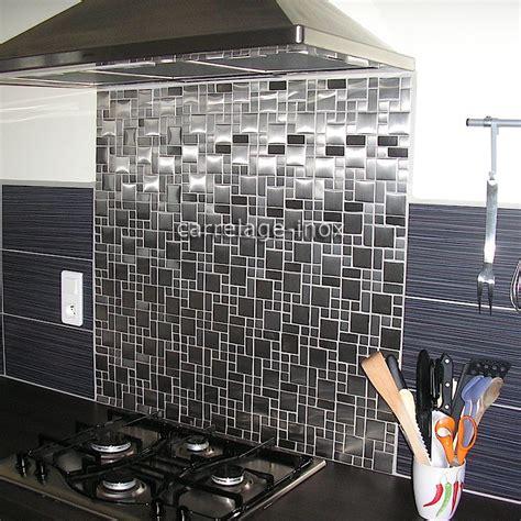 mosaique autocollante pour cuisine mosaïque inox 1m2 carrelage inox fond de hotte laska