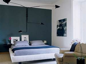 Delectable dark bedroom accent wall color design by cool