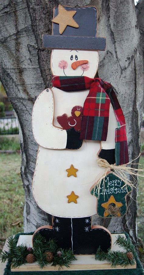 merry christmas snowman wood christmas outdoor  indoor