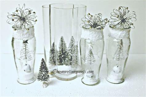 decorating  vases  create  christmas glass vignette