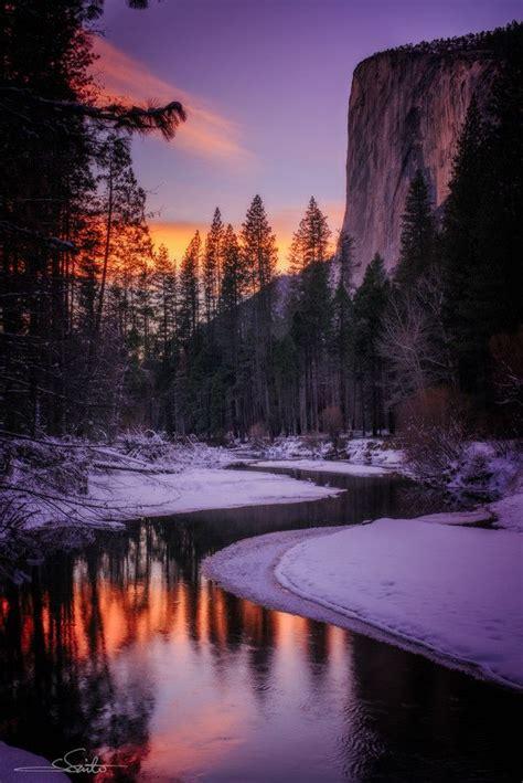 Winter Sunset In El Capitan California ~ By Shumon Saito