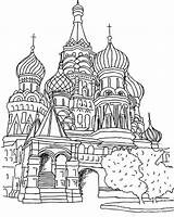 Coloring Cathedral Basils Moscow St Pages Saint Basil Russia Coloringpagesfortoddlers Colouring Printable Dari Disimpan Sheets sketch template