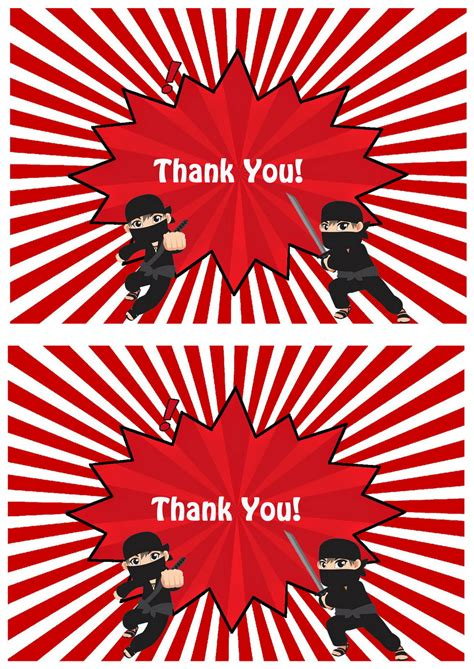 ninja   cards birthday printable