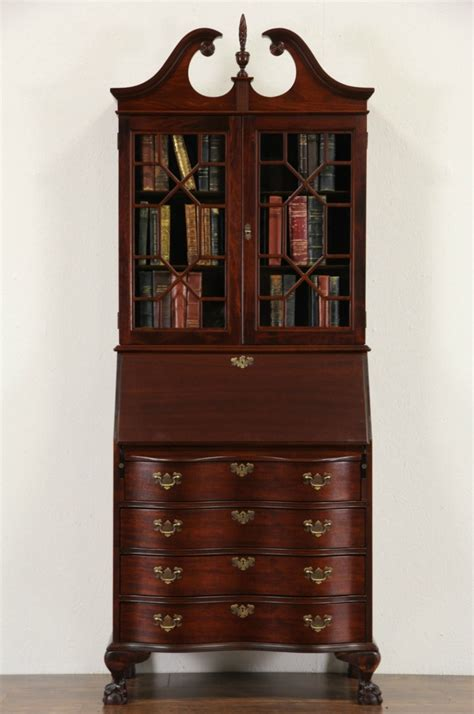 sold georgian  vintage secretary desk bookcase