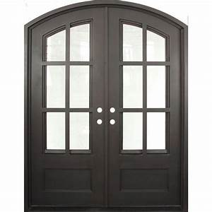 iron doors unlimited 74 in x 975 in craftsman classic With bronze entry doors