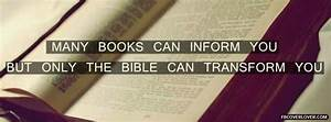 Only The Bible Can Transform You Facebook Cover ...