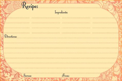 Recipe Card Template For Word Recipe Card Template For Word Authorization Letter Pdf