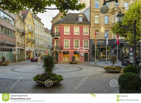 Shopping Center Baden Baden by City Center In Baden Baden Germany Editorial Image