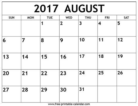 free printable 2017 calendar august 2017 calendar calendar printable free free
