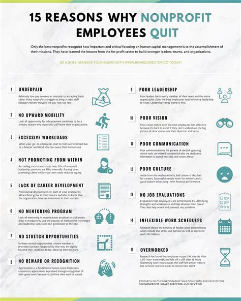 infographic  nonprofit employees quit
