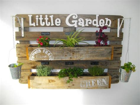 upcycled pallet wall planter  gardens