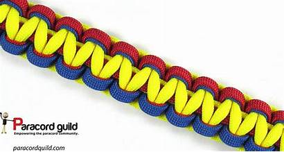 Bracelet Paracord Tie Pattern Cobra Twisted Underside