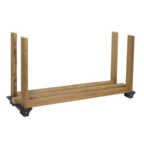 xbasics black polyresin firewood rack brackets  lowescom