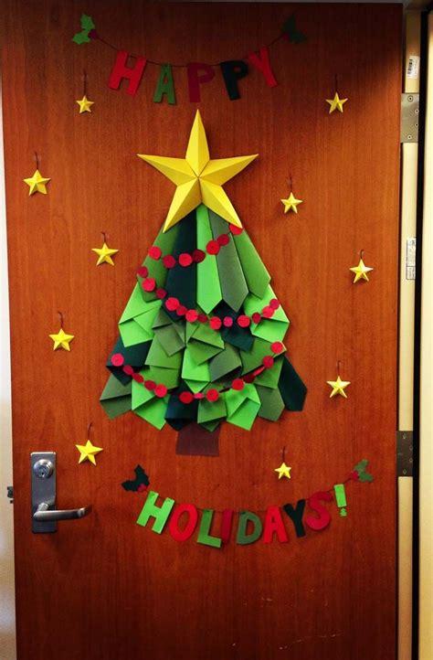 christmas tree door decor  work  smith   trades