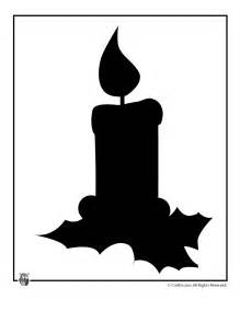 printable christmas templates shapes and silhouettes holiday candle silhouette craft jr