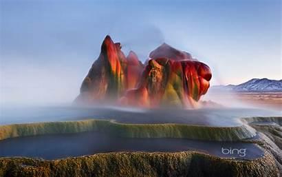 Bing Background Wallpapers Week Desert Geyser Last