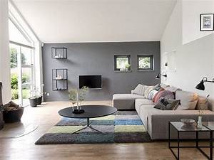 Peinture salon grise 29 idees pour une atmosphere elegante for Peinture claire pour salon