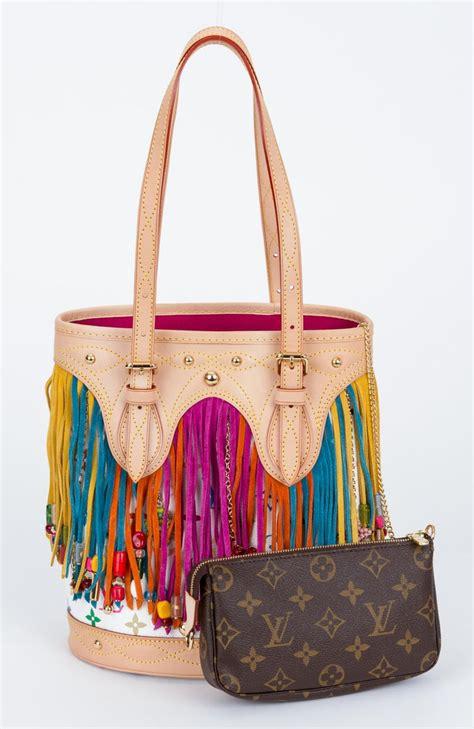 louis vuitton limited edition multicolor fringe bucket bag  sale  stdibs