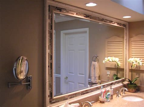 Very accommodating and comes with diverse frames. 20 Inspirations Large Framed Bathroom Wall Mirrors ...