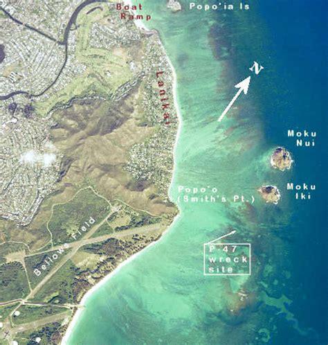 mokulua plane wreck site