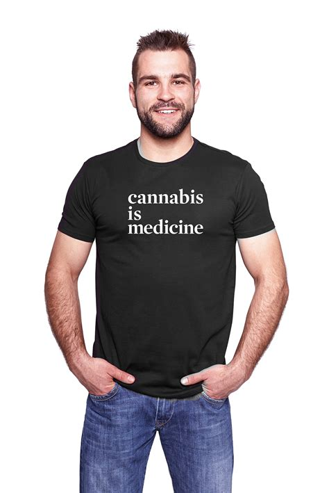 Men's 'Cannabis is Medicine' Hemp T-Shirt - Vireo Health of New York