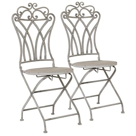 charles bentley florence folding chairs pair bistro