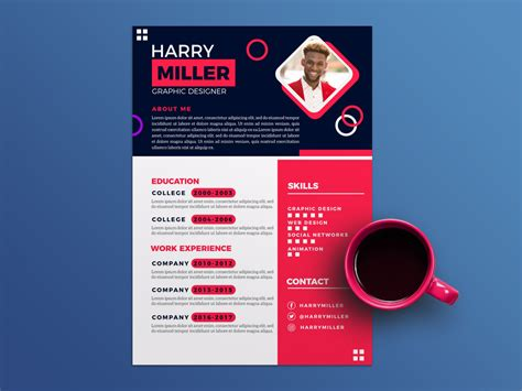 Stylish Cv Template Free by Free Flat Stylish Curriculum Vitae Template With Colorful