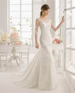 2015 beautiful a line designer wedding dress with sheer With robe manche trois quart