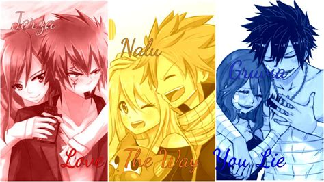 fairy tail love    lie nalu jerza gruvia