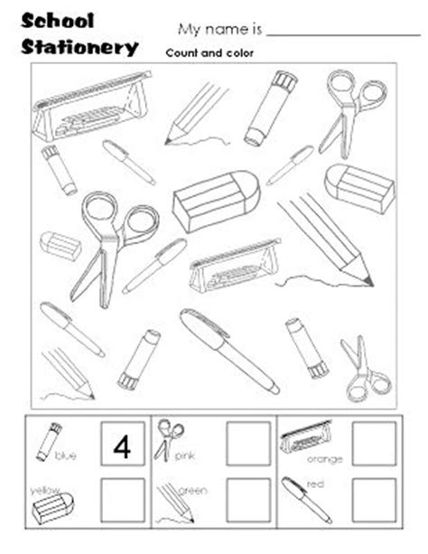 school objects worksheet for kindergarten 17 best ideas about english worksheets for kids on