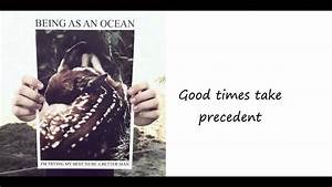 Being As An Ocean - The Hardest Part... [Lyrics] - YouTube  Being