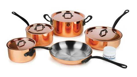 mauviel mm copper cookware set mheritage  cutlery