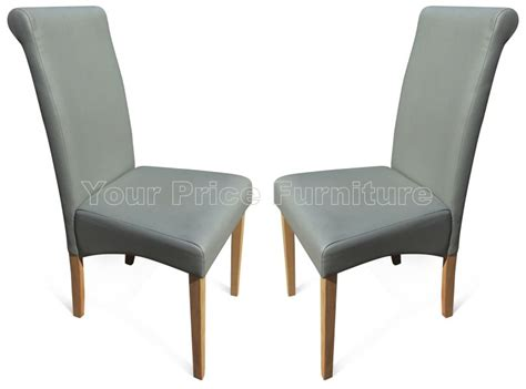 Roma Matt Grey Faux Leather Dining Chairs With Oak Legs Shower Curtains Laura Ashley What Lengths Do Come In Habitat Curtain How Much Fabric To Make A Brown Hooks Rods Curved Yellow And Grey 108 X 84