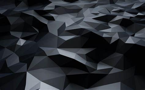 Grey 3d Wallpaper by Wallpaper Wiki Black 3d Polygons Pattern Ultra Hd